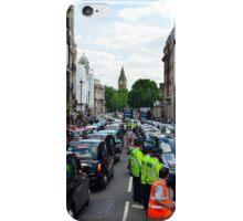 Taxi strike in London iPhone Case/Skin