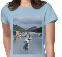 A Row of Boats Womens Fitted T-Shirt