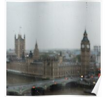 Big Ben on a Rainy Day Poster