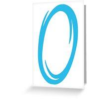 Portal-Blue Greeting Card
