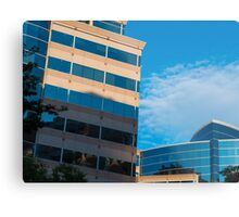 Buildings, shadows, sky Metal Print
