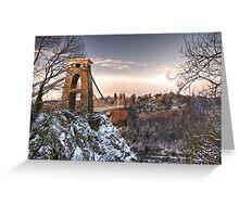 Clifton Suspension Bridge Snow Greeting Card
