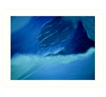 Wildness of the ocean Art Print