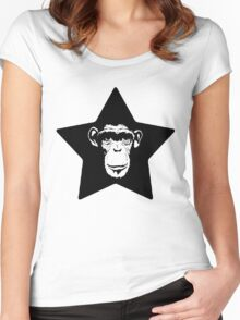 Monkey Superstar Women's Fitted Scoop T-Shirt