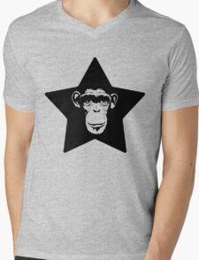 Monkey Superstar Mens V-Neck T-Shirt