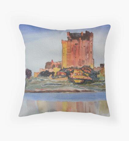 Eilean Donan Castle Dornie Inverness Shire Scotland Throw Pillow