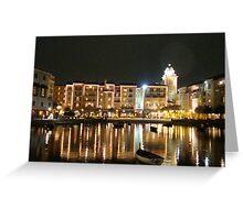 Portofino By Night In Orlando FL. Greeting Card