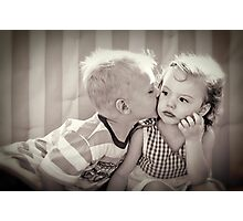Indifferent Kiss Photographic Print