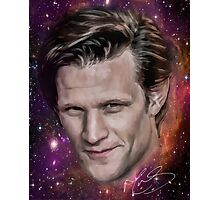 Matt Smith - former Doctor Who - Digital portrait painting  Photographic Print