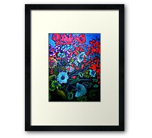 My Garden - Oil Painting Framed Print