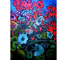 My Garden - Oil Painting Photographic Print