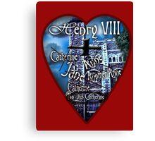 Henry VIII Valentine Shirt Canvas Print