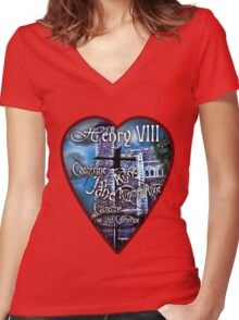 Henry VIII Valentine Shirt Women's Fitted V-Neck T-Shirt