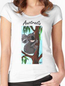 Cute Koala Australia Women's Fitted Scoop T-Shirt