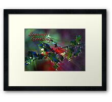 Seasons Greetings..... Framed Print