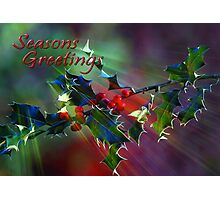 Seasons Greetings..... Photographic Print