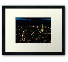 Bokeh Eiffel Tower Framed Print