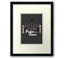 PokeBarber Framed Print