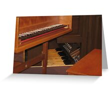 Keyboard and Foot pedals Greeting Card