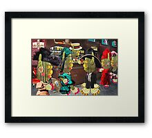Saloon Maidens Framed Print