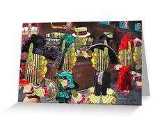 Saloon Maidens Greeting Card