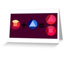Ruby + Sapphire = Garnet Greeting Card