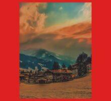 a stunning Austria landscape Kids Tee