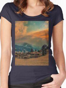 a stunning Austria landscape Women's Fitted Scoop T-Shirt