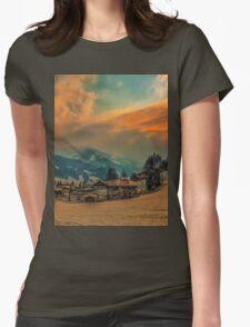 a stunning Austria landscape Womens Fitted T-Shirt