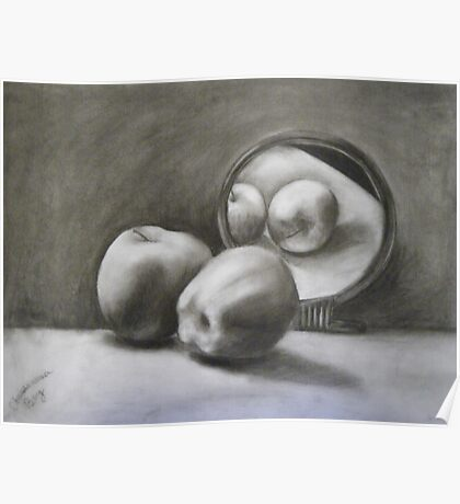 Reflection of Apples Poster