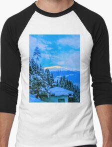 a colourful Austria landscape Men's Baseball ¾ T-Shirt
