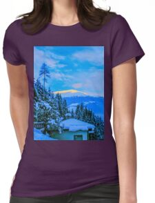 a colourful Austria landscape Womens Fitted T-Shirt