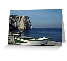 Etretat: Dowries under the Aval Cliffs Greeting Card