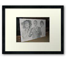 3 icons Framed Print