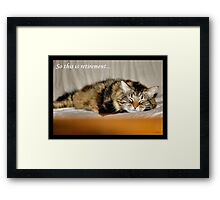 SO THIS IS RETIREMENT Framed Print