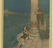 Stories from Hans Andersen - Art by Edmund Dulac - 1911 - 0203 - The Mermaid - The Prince Asked Who She Was by wetdryvac