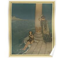 Stories from Hans Andersen - Art by Edmund Dulac - 1911 - 0203 - The Mermaid - The Prince Asked Who She Was Poster