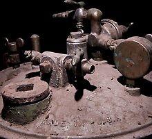 Old Mine Equipment Steam Punk by doorfrontphotos