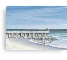 """ All You Need Is Love "" Folly Beach SC Canvas Print"