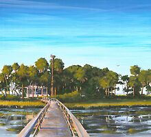 """ Pair-o-dice Island "" Beaufort SC USA by Matthew Campbell"