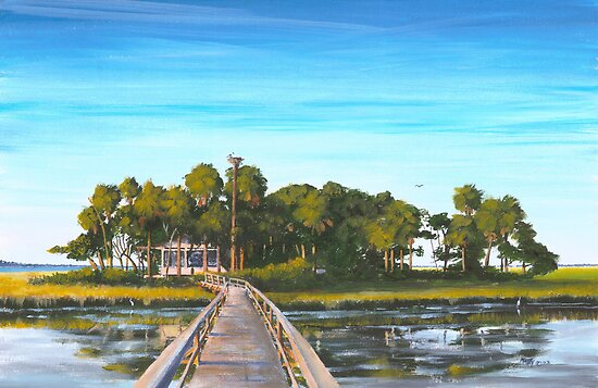 """ Pair-o-dice Island "" Beaufort SC USA by Matthew Campbell"