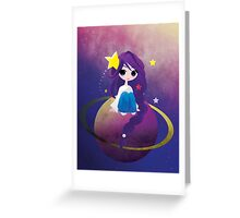 With Drops of Jupiter in her Hair Greeting Card