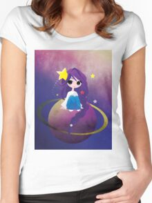 With Drops of Jupiter in her Hair Women's Fitted Scoop T-Shirt