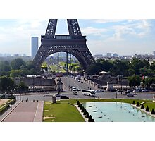 The Base of the Eiffel Tower Photographic Print
