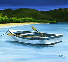 """ St John Dinghy "" Trunk Bay St John USVI by Matthew Campbell"