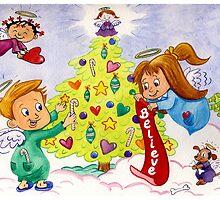Christmas Angels by KatrinaArt
