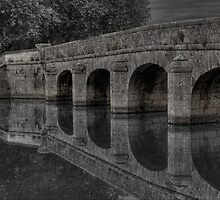 Chambord Bridge in Black and White by raymac
