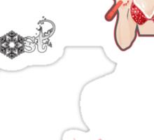 red1 - pinup - bf Sticker