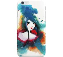 Ode to Blue - Woman in Abstract iPhone Case/Skin