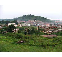 a desolate Nigeria landscape Photographic Print